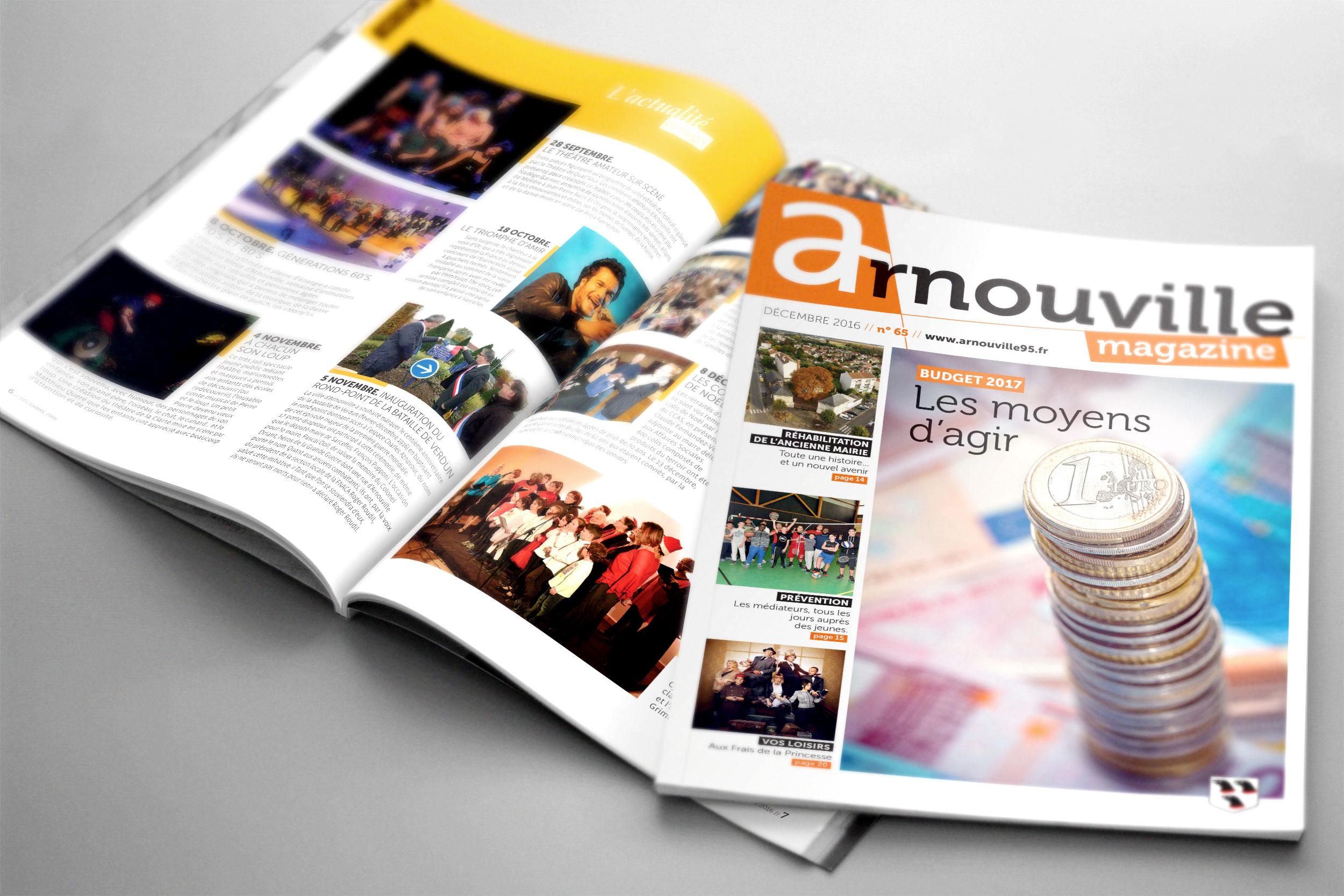 Magazine municipal « Arnouville magazine »