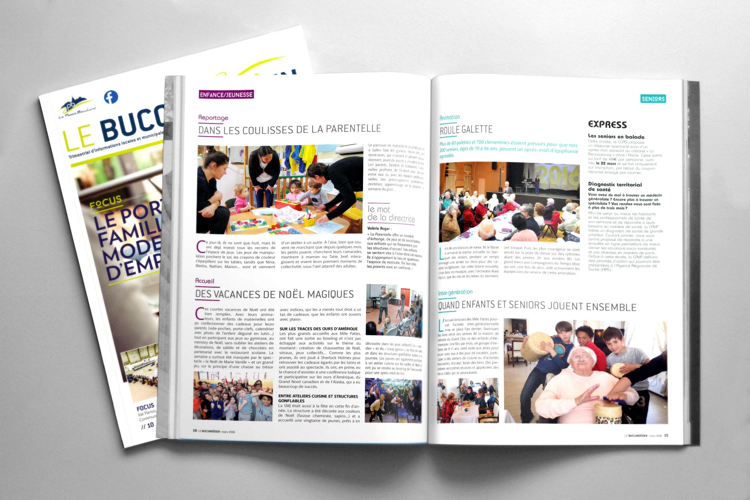 Magazine municipal «Le Buccardesien»
