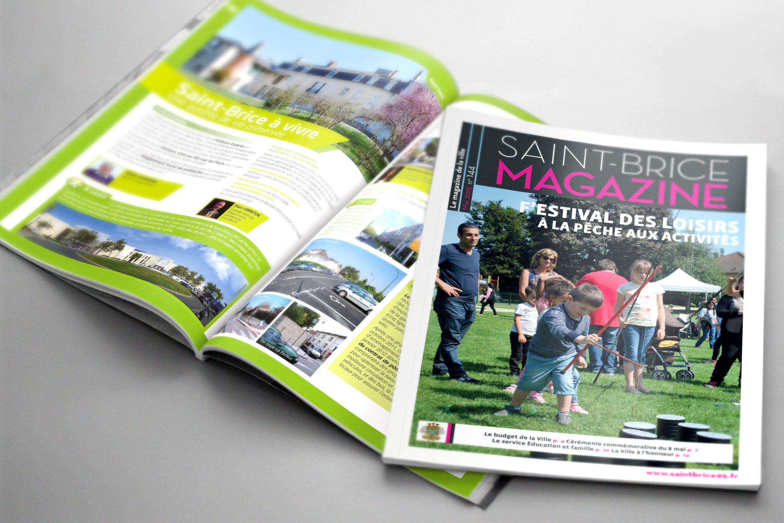 magazine municipal « Saint-Brice mag »
