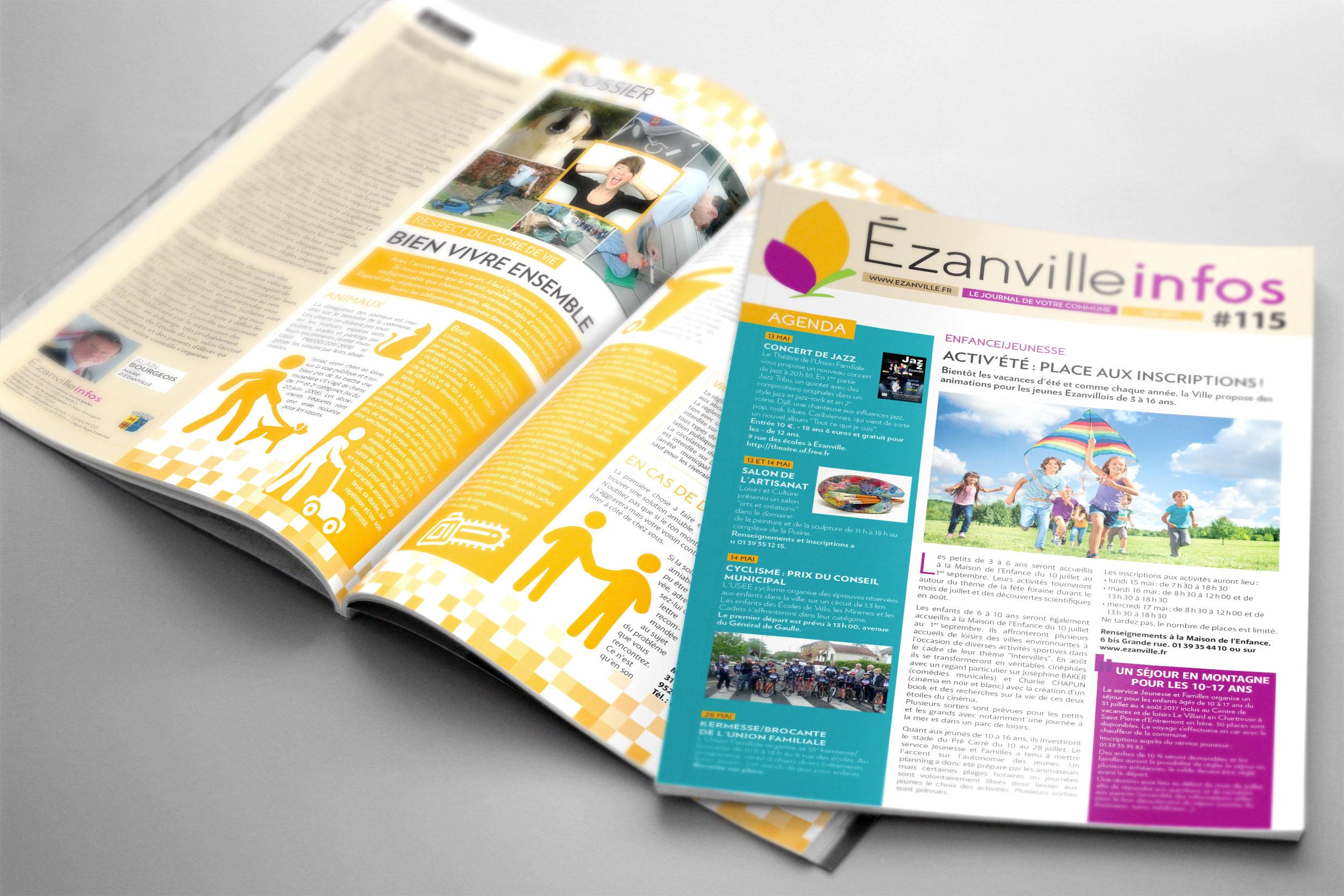 Magazine municipal «Ézanville infos»