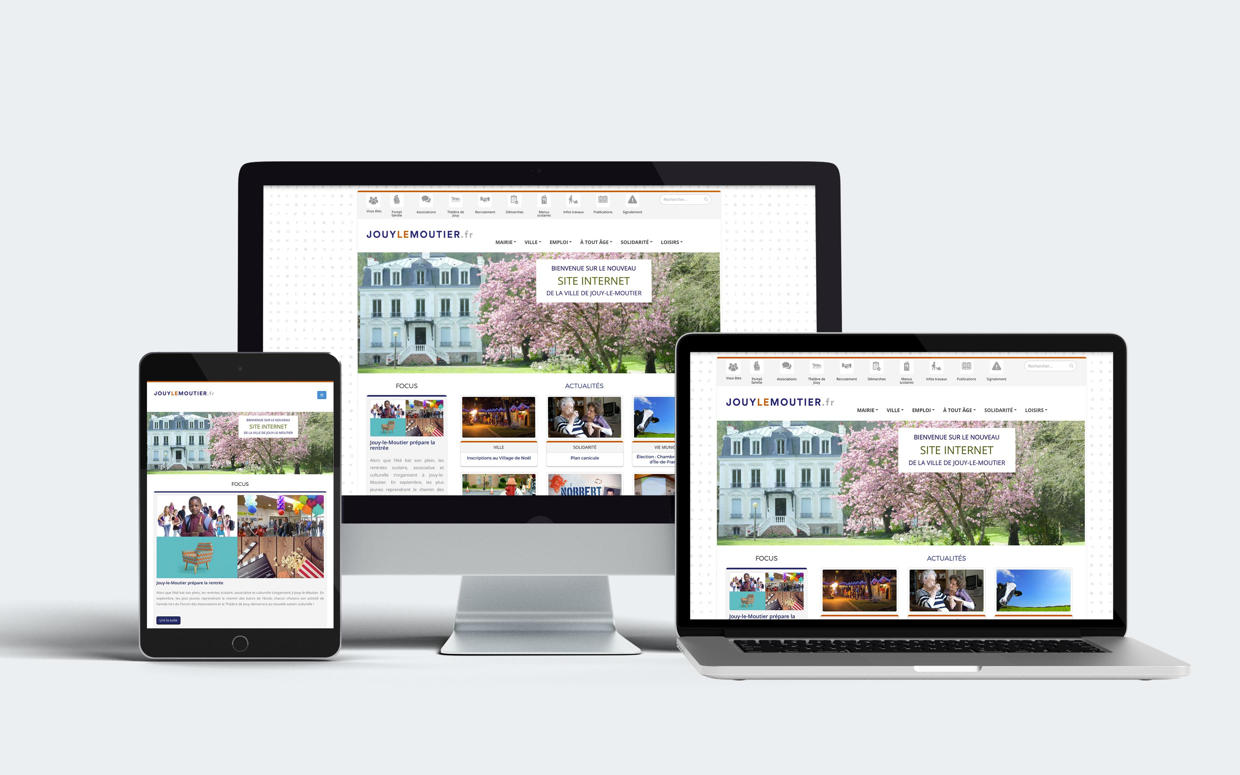 Site internet de la ville de Jouy-le-Moutier