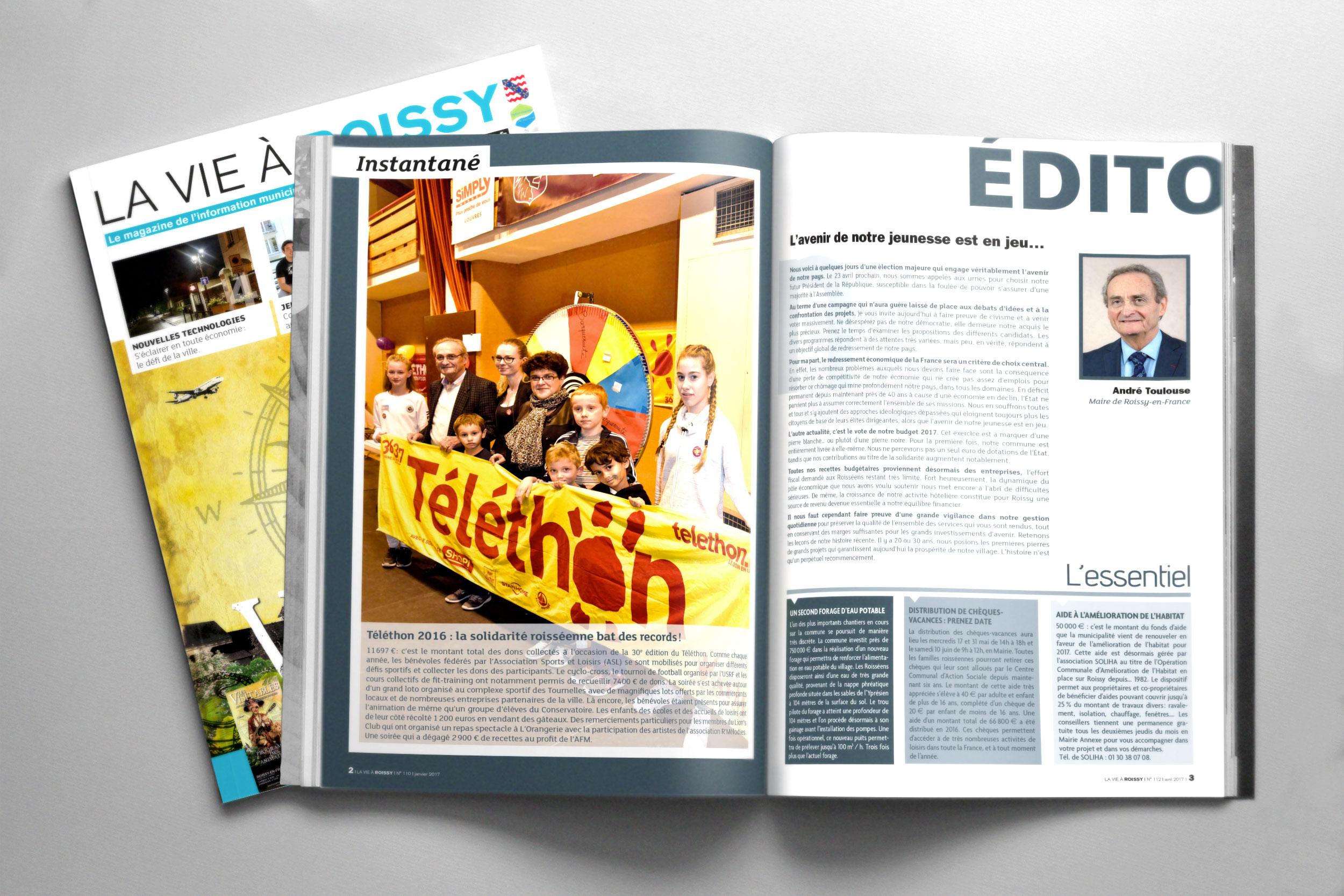 Magazine municipal «La vie à Roissy»