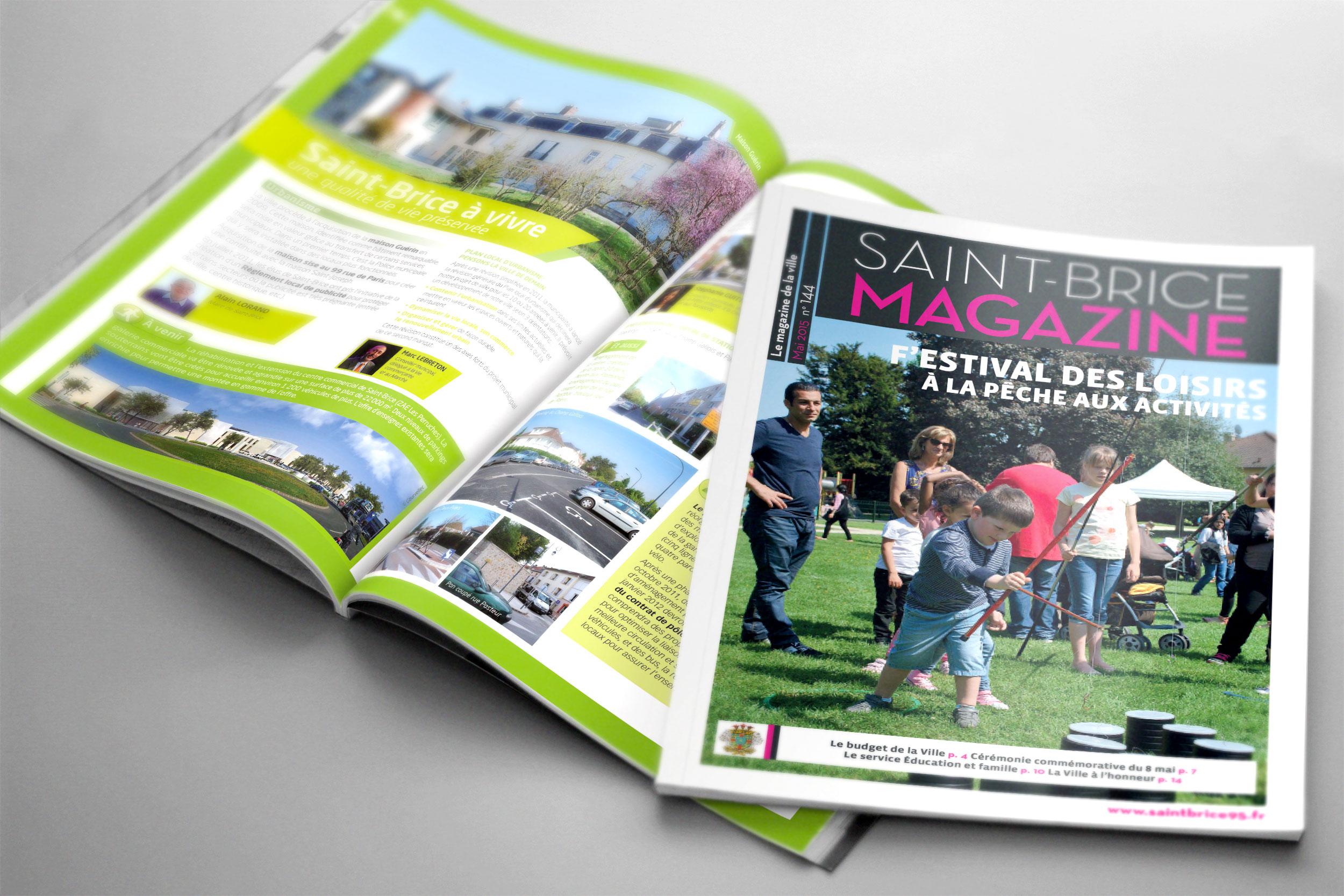 magazine municipal «Saint-Brice mag»